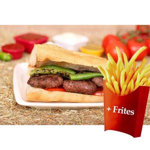 Sandwich Kofte +frites